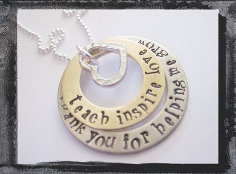 Personalized Jewelry Hand Stamped Necklace  by LillyEllenDesigns, $38.00