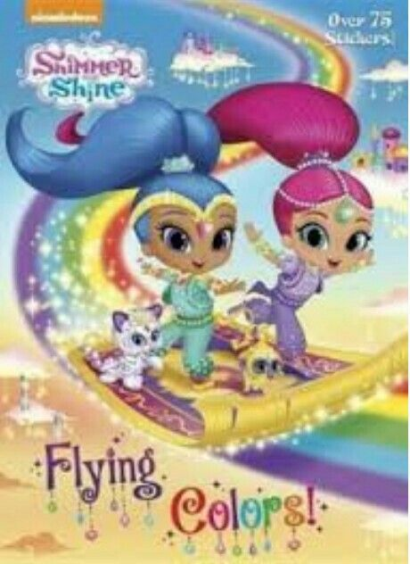 Shimmer And Shine Flying Colors Shimmer N Shine Shimmer Coloring Books