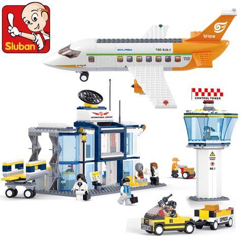 NEW  model building kits city plane  3D blocks Educational model toys hobbies