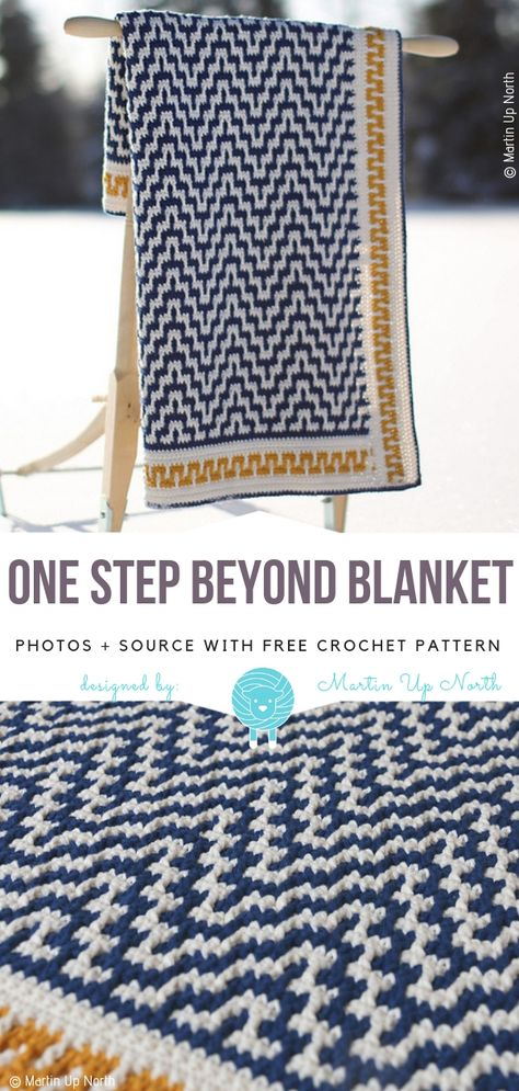 One Step Beyond Blanket Free Crochet Pattern