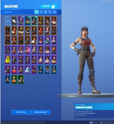 Fortnite Account Renegade Raider Aerial Assault Trooper Og Skull Email Fortnite Canada Toronto Fortnite Gaming Gear Blackest Knight