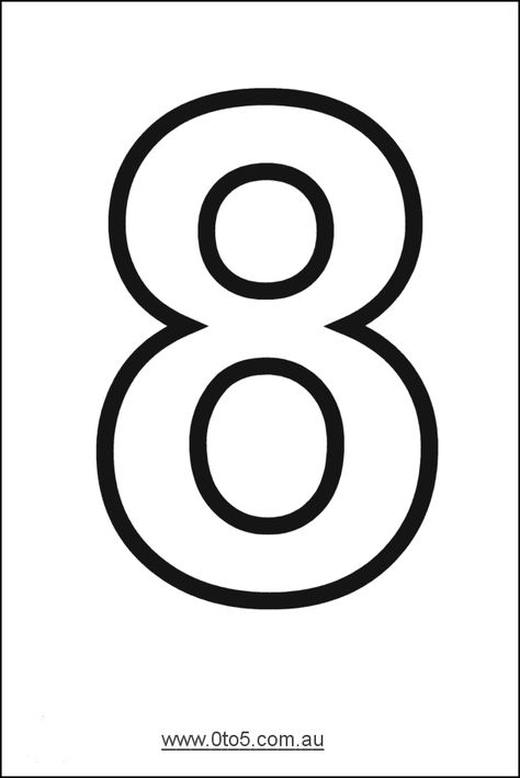 Number - eight printable template
