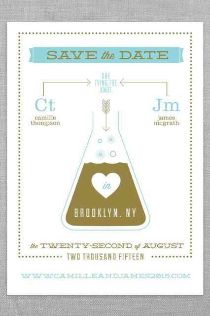 """Wedding Stationery That'll Make You Love Hipster """"I Dos"""" #refinery29  http://www.refinery29.com/ice-cream-social#slide2  Shop Ice Cream Social's Cosmic Chemistry collection here."""