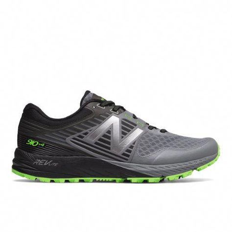 New Balance 910v4 Trail Mens Trail Running Shoes Greygreen