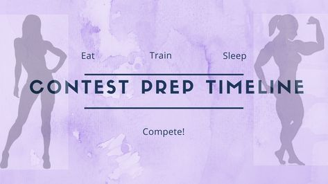 A contest prep timeline. What you need to do during the duration of your competition prep for bikini, figure, fitness and physique competitions.
