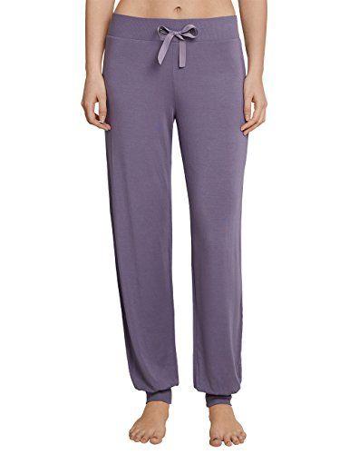 f56fc1a226 Schiesser Damen Schlafanzughose Mix & Relax Jerseyhose Lang Blau (Veilchen  822) 38. veilchen