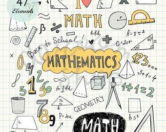 Hand Drawn Mathematics Clip Art Math Elements And Symbols Back To School Pencil Drawing Notebook Doodle Vector Eps Png Digital Download In 2021 How To Draw Hands Clip Art Math Clipart