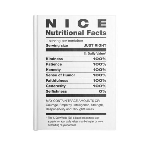 Nice Nutritional Facts Ingredients Christmas