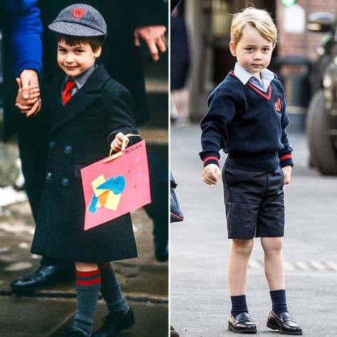 2eef6641c4 Then and Now! Prince George Mirrors Prince William s First Day of School