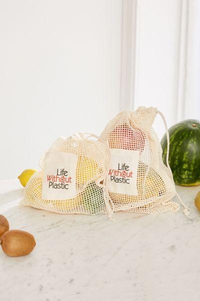 Life Without Plastic Organic Cotton Mesh Produce Bag Reusable Produce Bags Produce Bags Eco Friendly Kitchen