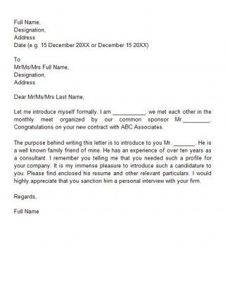 Letter Of Introduction Business Letter Of Recommendation With