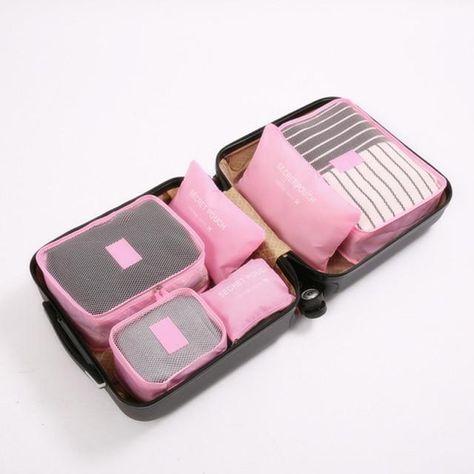 Travel Storage Bags - Pink