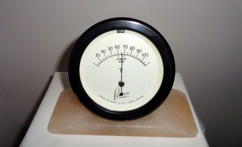 Vintage Bakelite Rototherm Thermometer On Alabaster Base Vintage