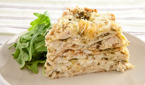 This recipe is proof that a well-stocked kitchen can make a fabulous dinner. A humble can of tuna is transformed into an impressive crepe dish layered with tuna, béchamel and Parmesan cheese.