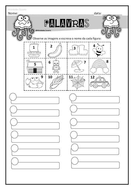Palavras E Frases Em Pdf Atividades Pedagogica Suzano