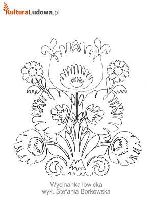Wycinanka Lowicka Malowanka Wyk Stefania Borkowska Art Quilts Folk Art Flowers Folk Embroidery