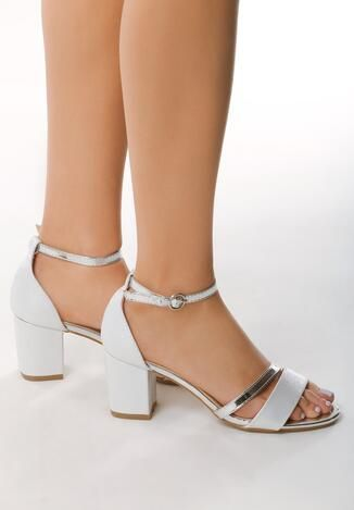 Srebrne Sandaly Everlive Shoes Sandals Fashion