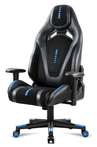 Amoiu Chaise Gaming Simili Cuir Fauteuil De Bureau Inclinable Siege Ergonomique Bleu Gaming Chair Chair Furniture