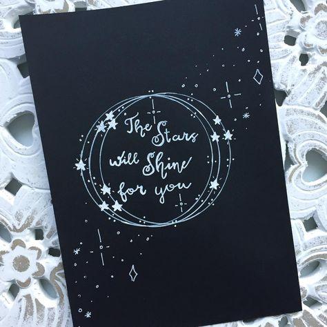 •the stars will shine for you• dag 21/31 van @dutchlettering . . . #dutchlettering #handlettering #moderncalligraphy #handmadefont #christmas #stars