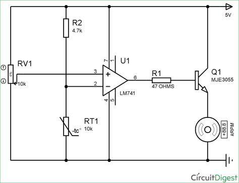 Circuit Diagram Of Temperature Controlled Dc Fan Using