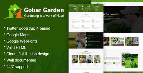 Gobar Garden - Gardening and Landscaping Responsive HTML5 Template