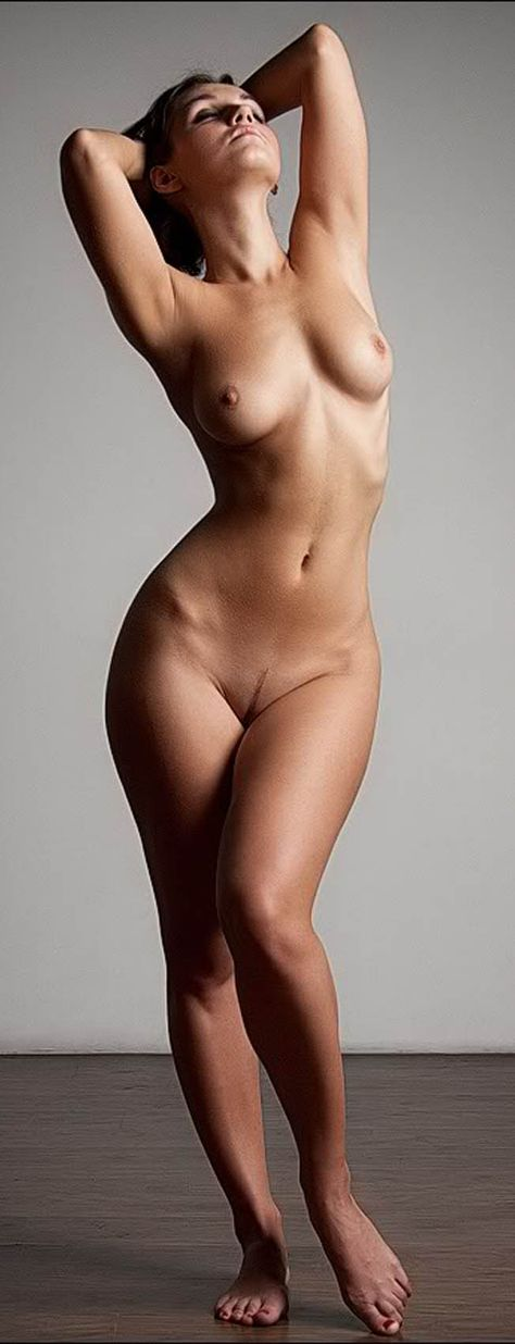 Perfect naked female body action 1