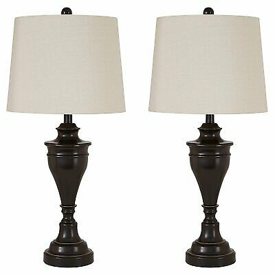 Icymi Set 2 Oil Rubbed Bronze Table Lamps Urn Base Pair W Shade 29 In Desk Beautiful In 2021 Lampentisch Lampen Wohnzimmer Lampe