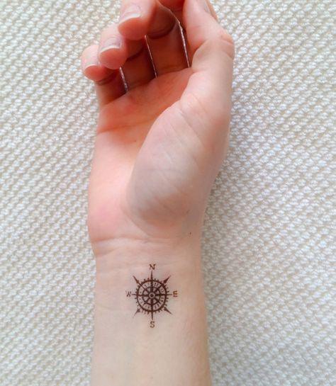 4 Kompass temporäre Tattoos - SmashTat