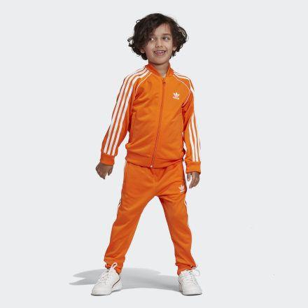 adidas Boys Originals SST Track Jacket (Active Orange   White)
