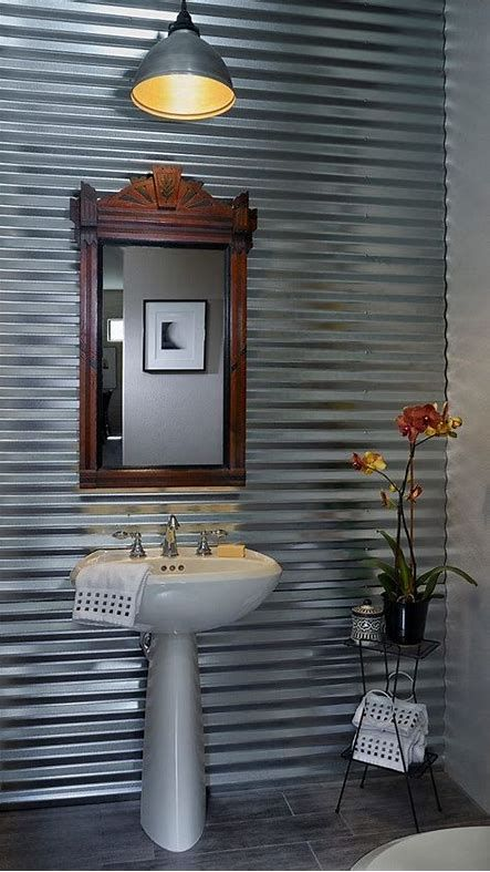 Image Result For Galvanized Metal For Bathroom Wall Cabinet Bathroom Accent Wall Bathroom Wall Cabinets Bathroom Accents
