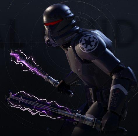 Custom Star Wars ELECTROHAMMER for 6 inch Purge Trooper Jedi Fallen Order black