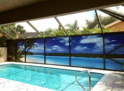 Privacy Screen For Pool Enclosure Lanzhome Com In 2020 Pool Screen Enclosure Outdoor Pool Decor Backyard Pool