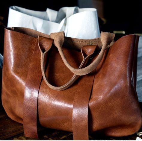 """Cognac leather bag. Clare Vivier, LA TROPEZIENNE 8"""". I need this!"""