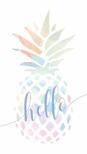 Hello Summer Wallpaper Design I Made By University Tees Design Team Design Hello Summer Unive Pineapple Wallpaper Summer Wallpaper Wallpaper Iphone Summer