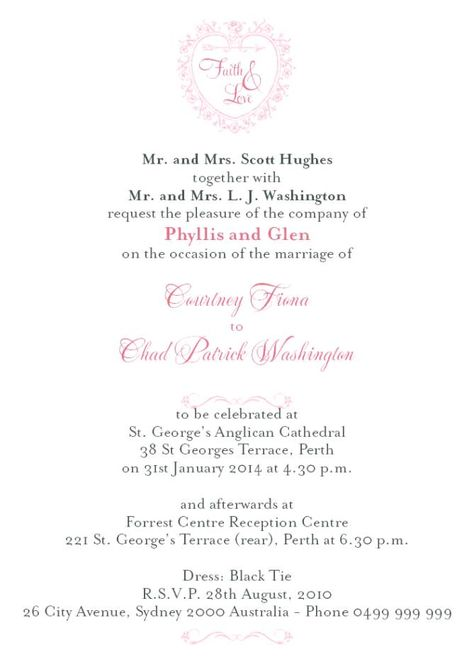 Formal Wedding Invitation Wording Hosting Diy For