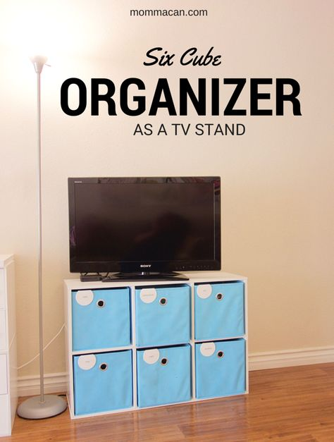 How I Used A Six Cube Organizer As A Television Stand Cube Organizer Organize Tv Stand Cube Storage