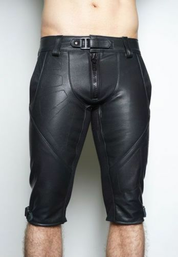 Men/'s Lamb Leather Basketball Shorts Real Leather Sports Shorts