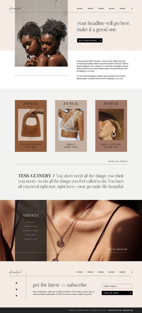 Modular Muse Showit Template