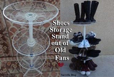 Shoes Storage Stand Out Of Old Fans Storage Stand Shoe Storage Fan