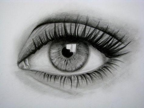 Cómo Dibujar Un Ojo Realista Y Pestañas Paso A Paso Ojos Dibujados A Lapiz Ojos A Lapiz Dibujos De Ojos