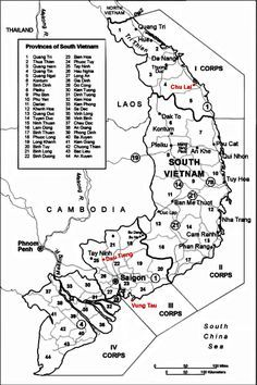 Military regions of South Veitnam during the Vietnam War