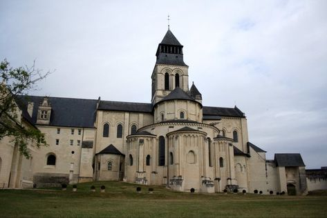 A View of Fontevrault Abbey, France ~  Founded in 1101 by Robert d'Arbrissel. The Abbey where Eleanor of Aquitaine passed her last years. Where she chose to be buried, next to her beloved son, Richard, and her beloved enemy, Henry.