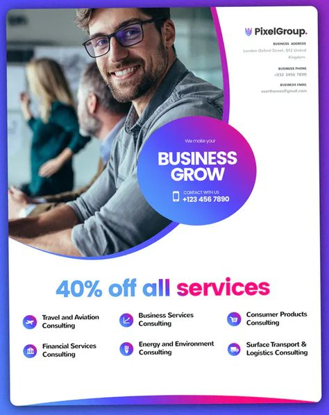 Business Flyer Template For Freelancing Companies PSD