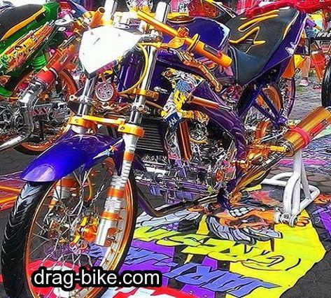 Modifikasi Motor Drag Vixion Thailand Look Gambar Motor Desain