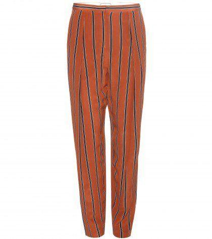 Pin for Later: Gebt bei diesem Wetter euren Jeans eine Auszeit  By Malene Birger bedruckte Hose aus Seide (295 €)