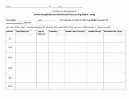 50 Worksheet Polarity Of Bonds Answers In 2020 Supplemental