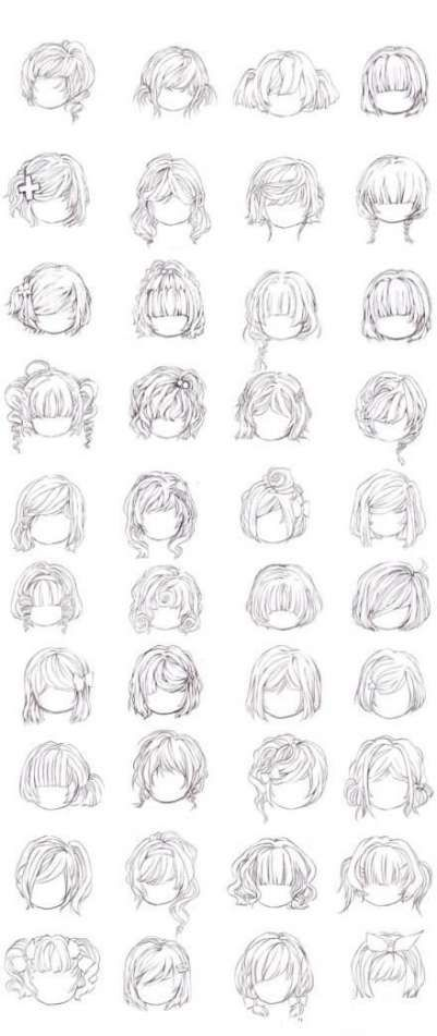 Hairstyles Summer Messy Bob 15 Ideas For 2019 Manga Hair Drawing Hair Tutorial Anime Hair