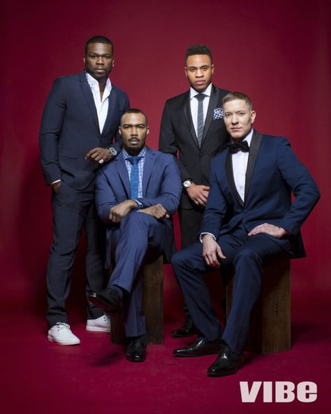 Did You See These Men In Suits On Vibe's Power Digital Magazine Cover? Omarick Harwick, 50 Cent, Joseph Sikora & Olurotimi Akinosho