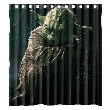 Deyou Science Movie Star War The Jedi Master Yoda Shower Curtain