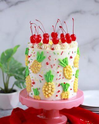 Strawberry Malt Cake - Baking with Blondie